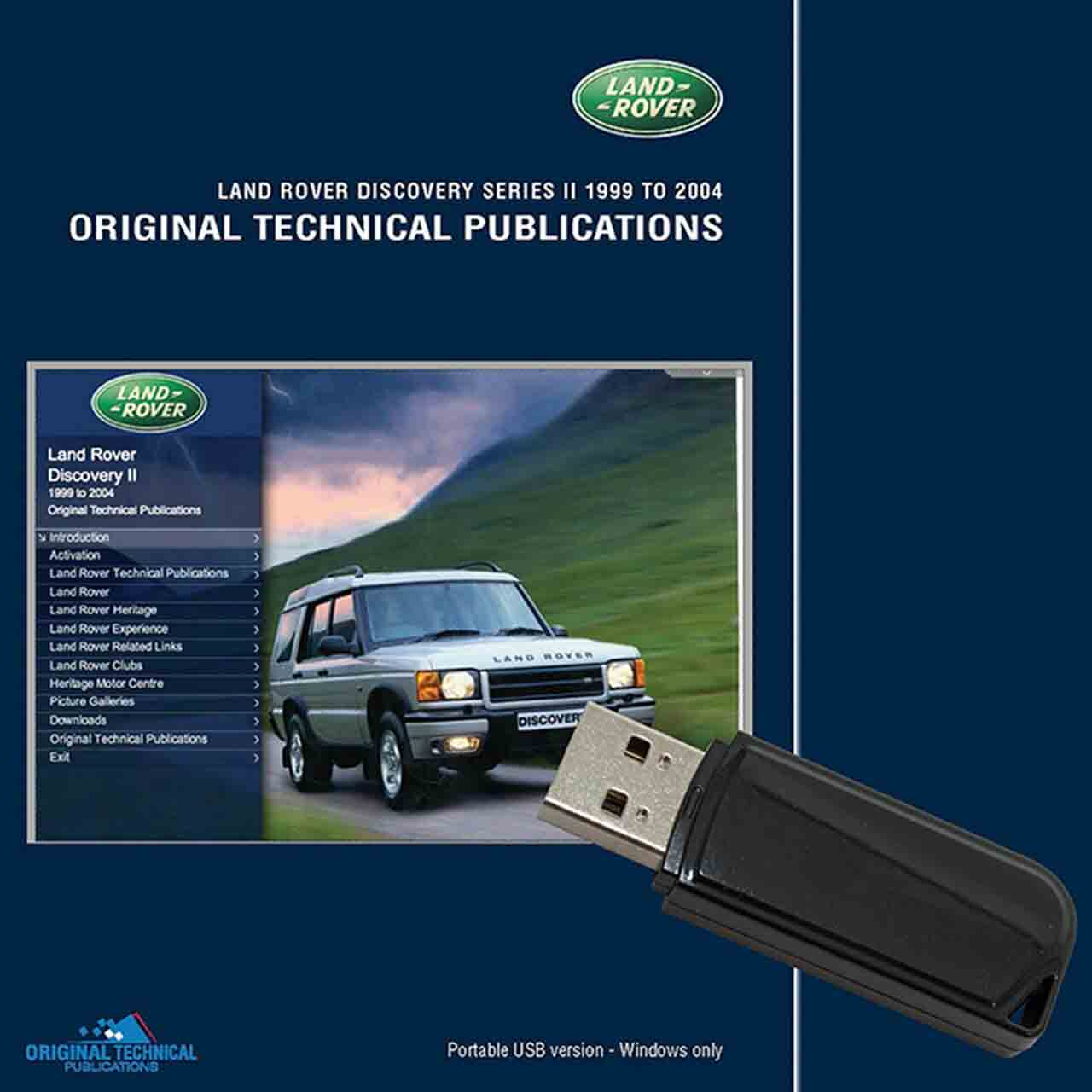 Discovery 2 Original Technical Publications Usb Portatile GR2-01525