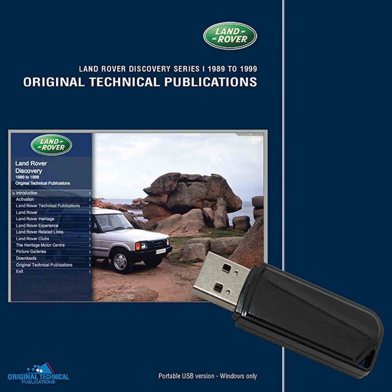 Discovery 1 Original Technical Publications Portable Usb GR2-04166