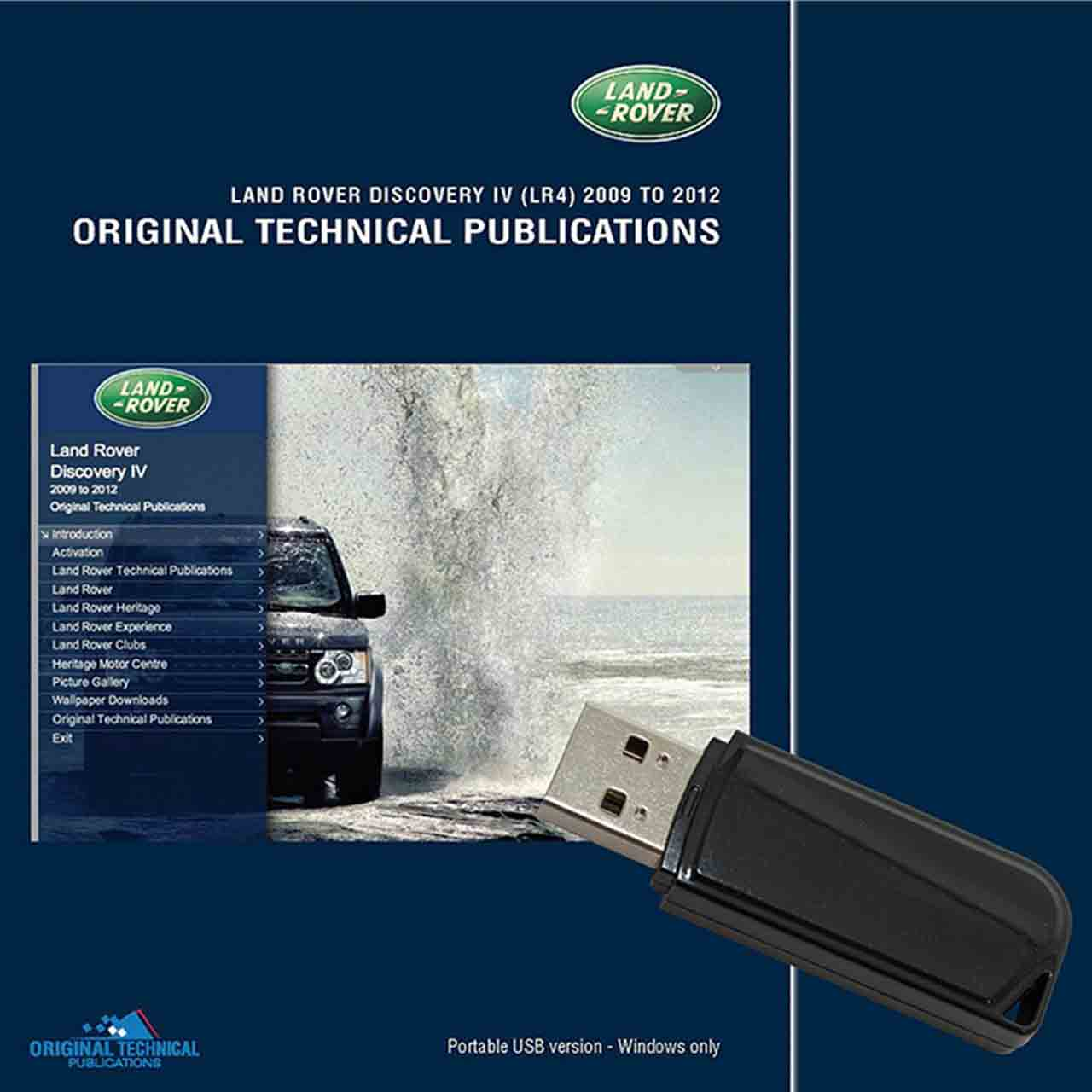 Discovery 4 Original Technical Publications Portable Usb GR2-04346