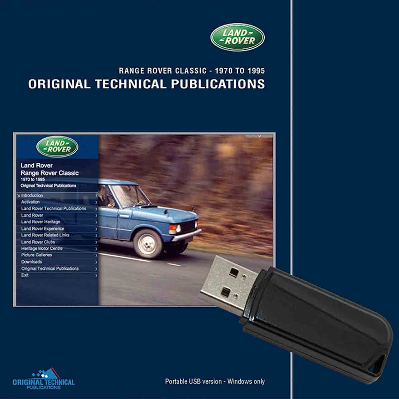 Range Rover Classic Original Technical Publications Portable Usb Range Rover Classic Land Rover GR2-06328