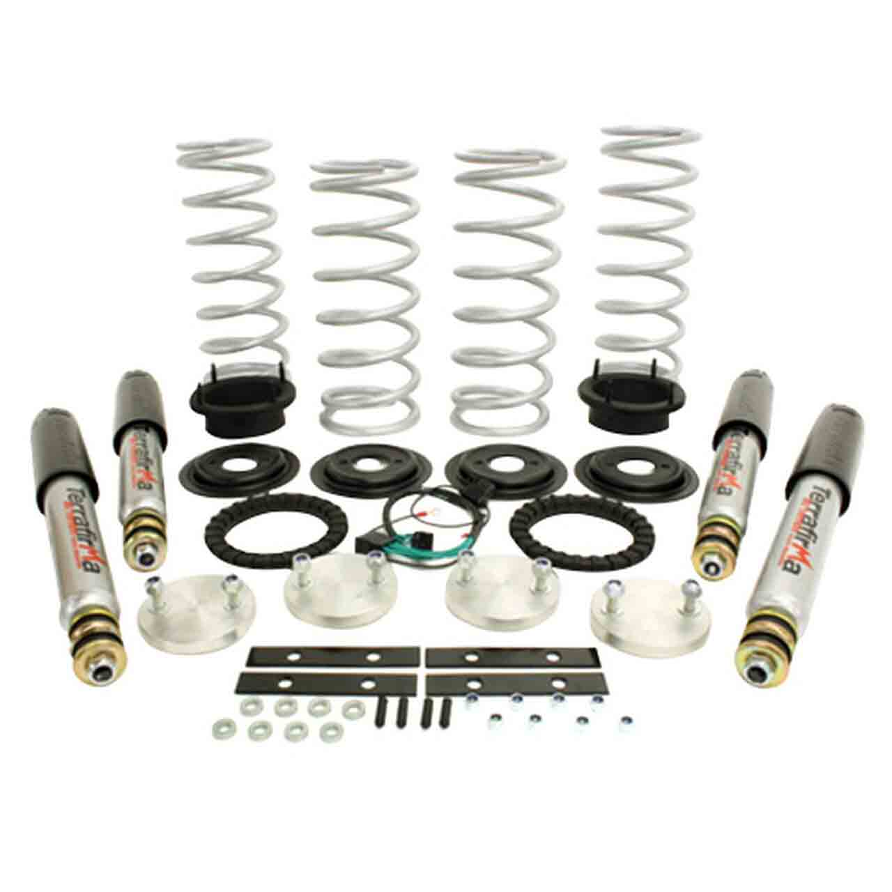 Range Rover P38 Heavy Duty 1 Lift Incluso Ammortizzatore All Terrain Shock Absorber Air To Coil Kit Conversione Terrafirma Range Rover P38 Land Rover GR2-07193