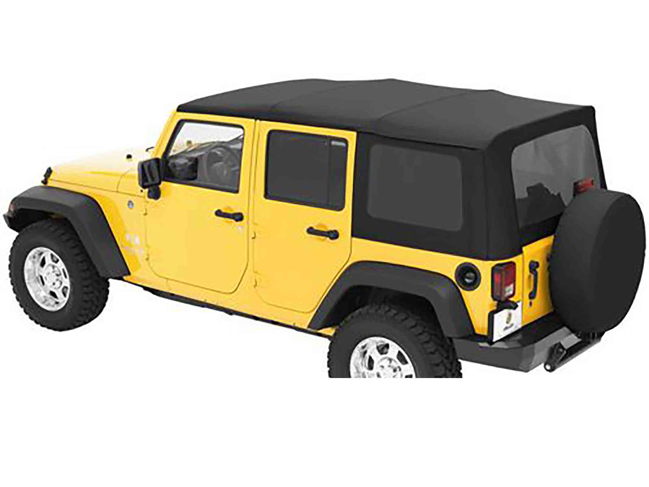 Softtop soft top capottina ricambio wrangler jk unlimited 07 09 black dia 4 porte ricambi jeep