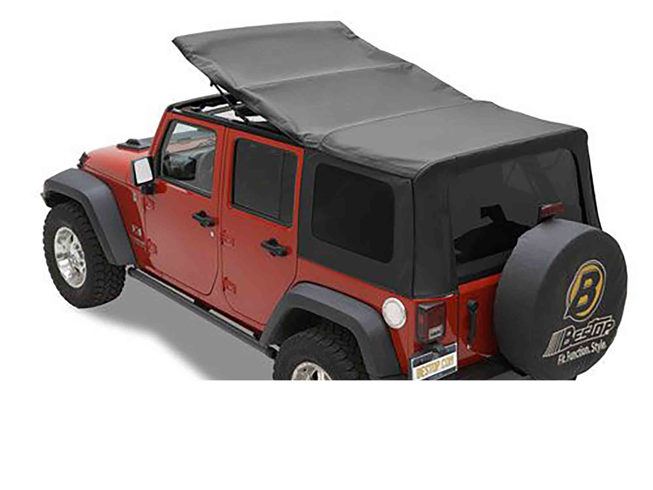 Softtop soft top capottina ricambio wrangler jk unlimited 07 09 4 porte ricambi jeep