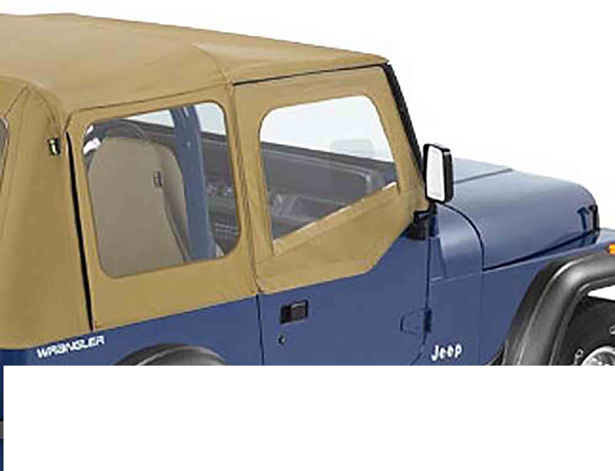 Mezza porta superiore wrangler yj 88 95 per mezzoporto adatto per softtop soft top capottina original