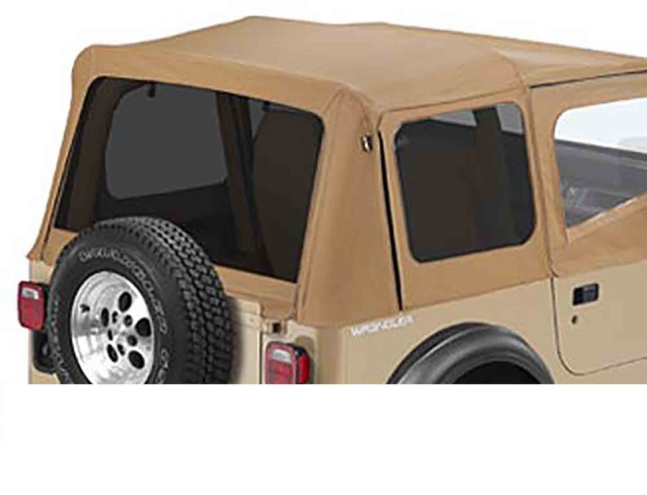 Vetri scuri wrangler yj 88 95 adatto per 51120 softtop soft top capottina ricambio colori: spice rica