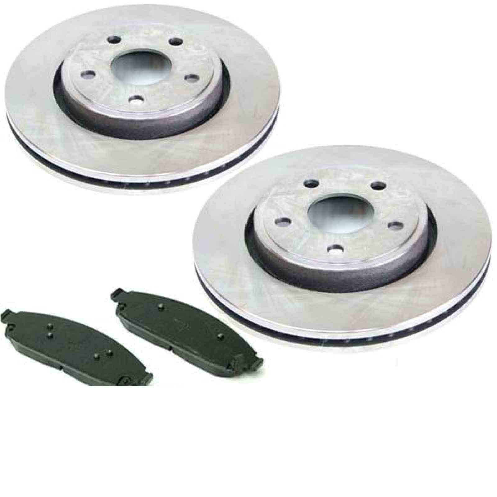 2 Dischi Freno Pastiglie Dei Freni Brake Discs Va Jeep Commander Type Dal 06 -