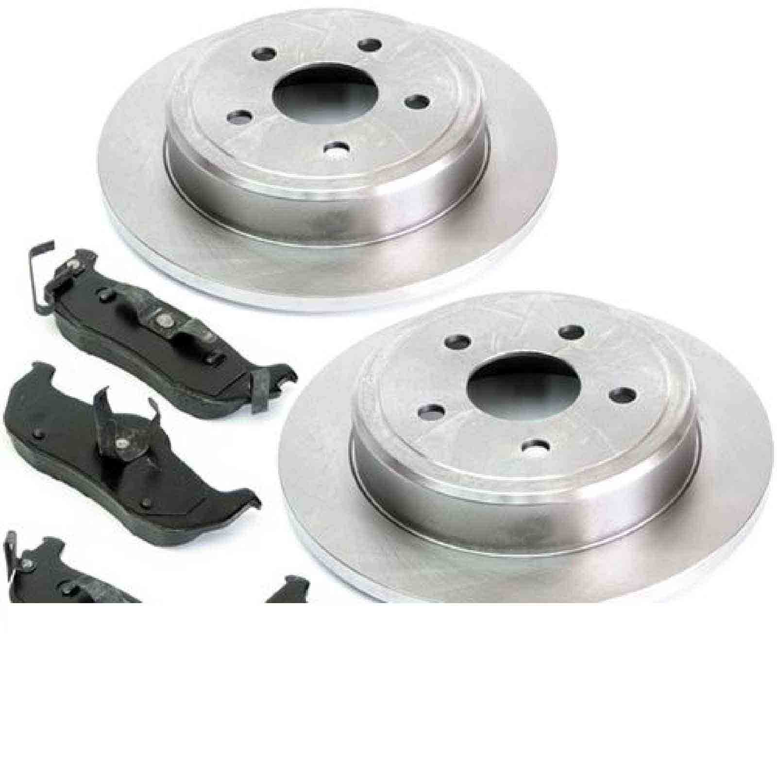 2 Dischi Freno Pastiglie Dei Freni Brake Rotore + Pad Set Jeep Commander 06 -