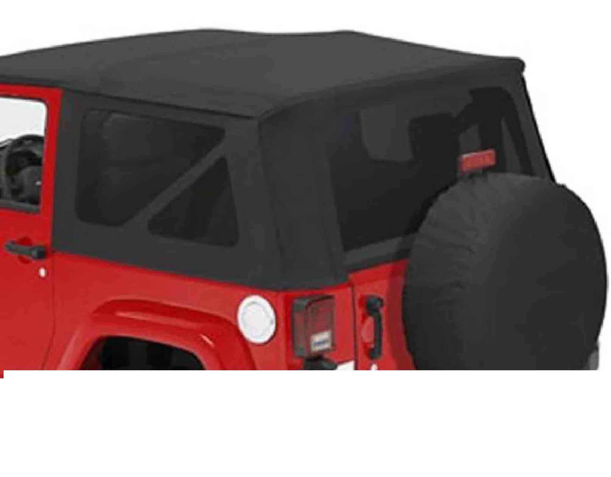 Pellicola Vetri Tinted Windows Black Diamond 2-Porte Jeep Wrangler Jk 07-10