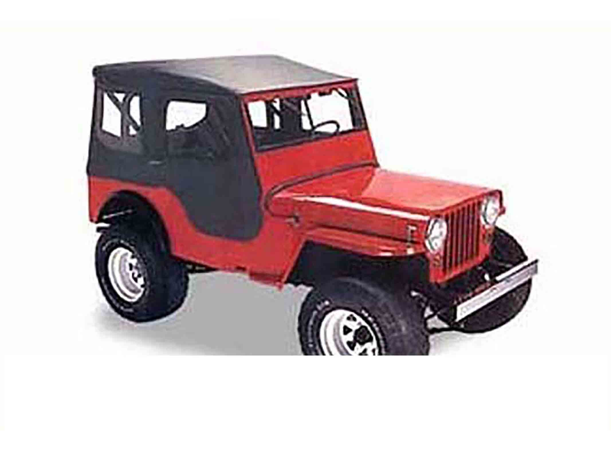 Tigertop softtop soft top capottina jeep cj 48 53 senza centina colori: black crush ricambi jeep