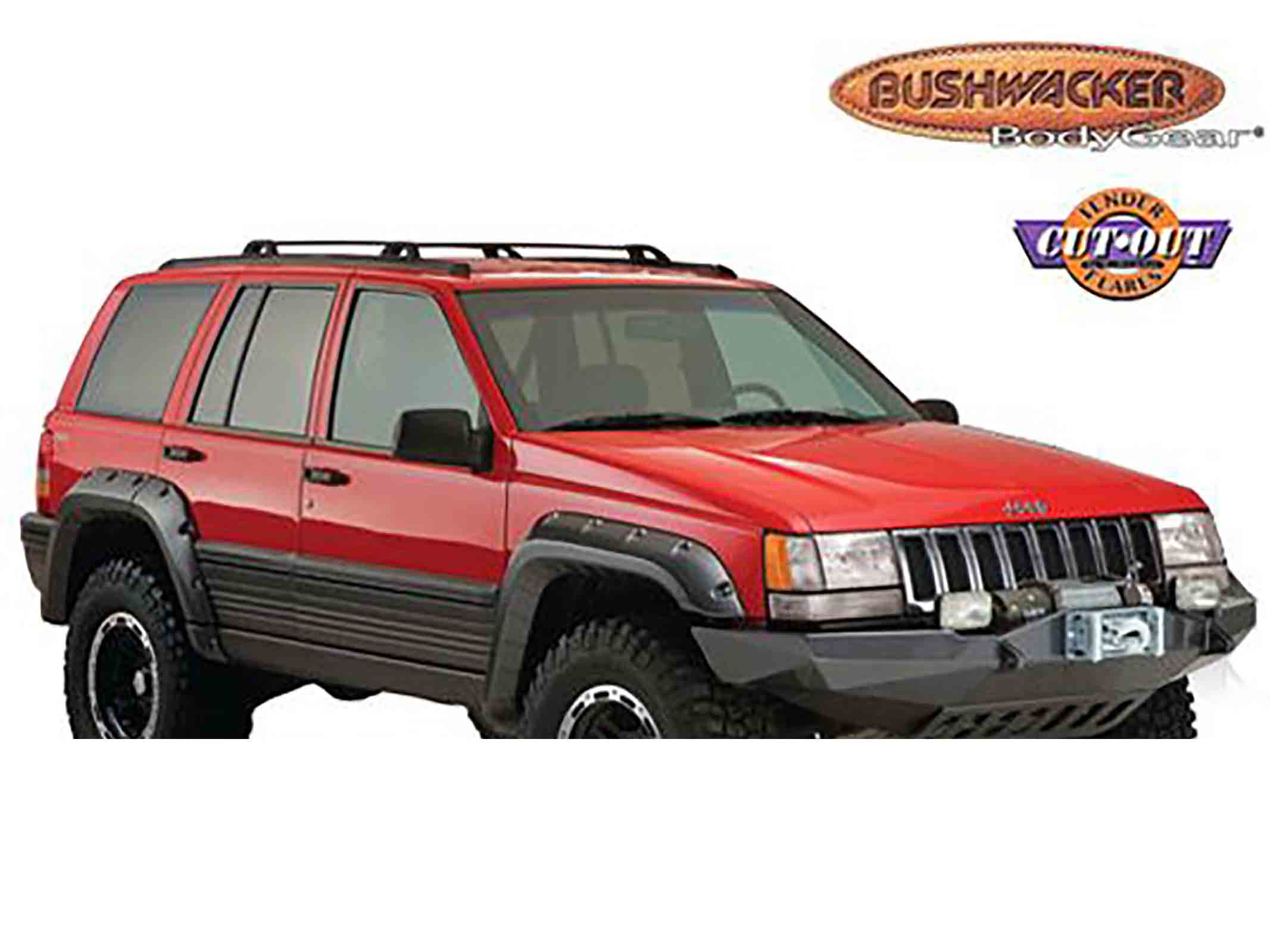 Bushwacker paranfanghetto grand cherokee zj zg 92 98 cut out flare 4 porte 4 pezzi ricambi jeep