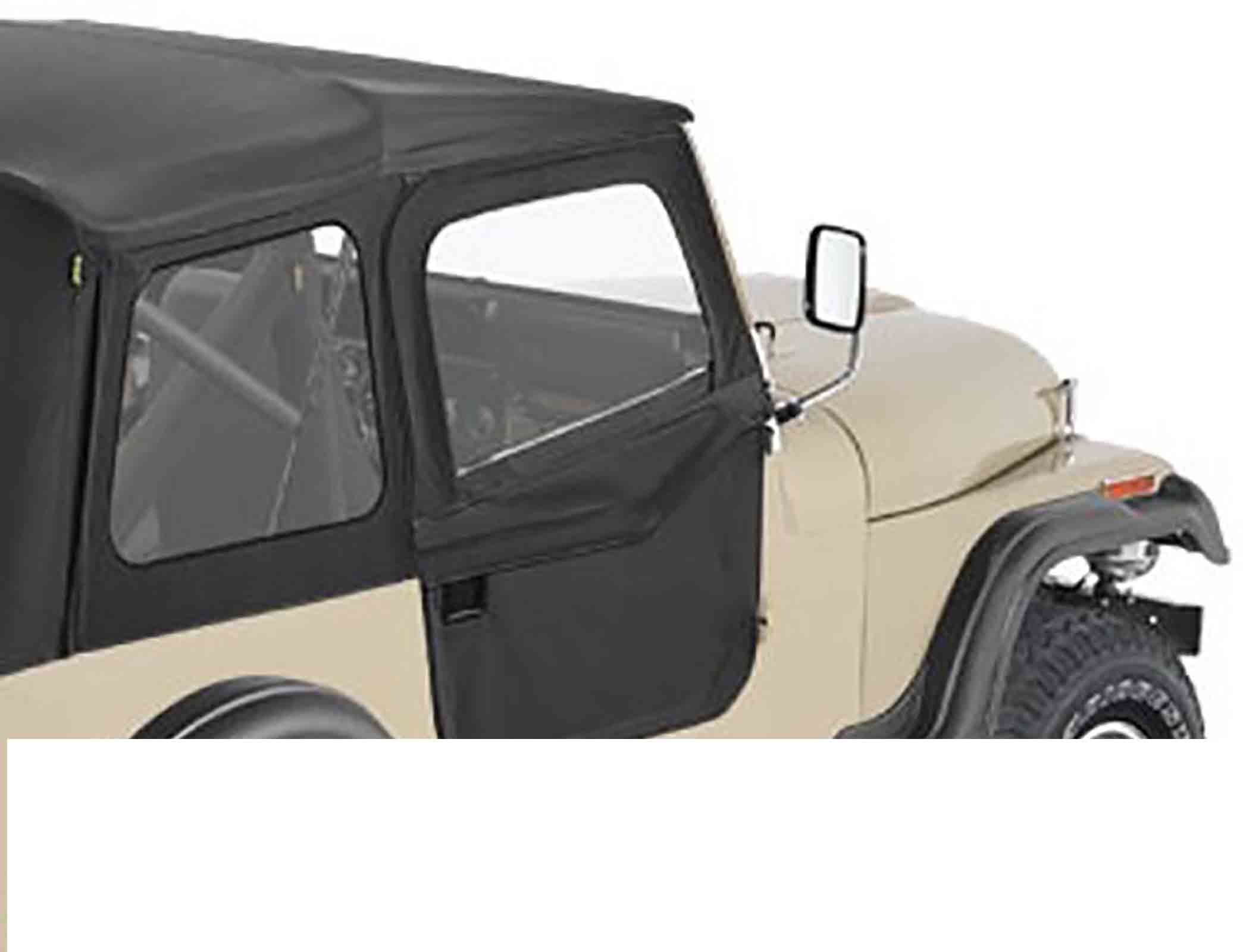 Porte divisibili jeep cj7 76 80 black denim ricambi jeep