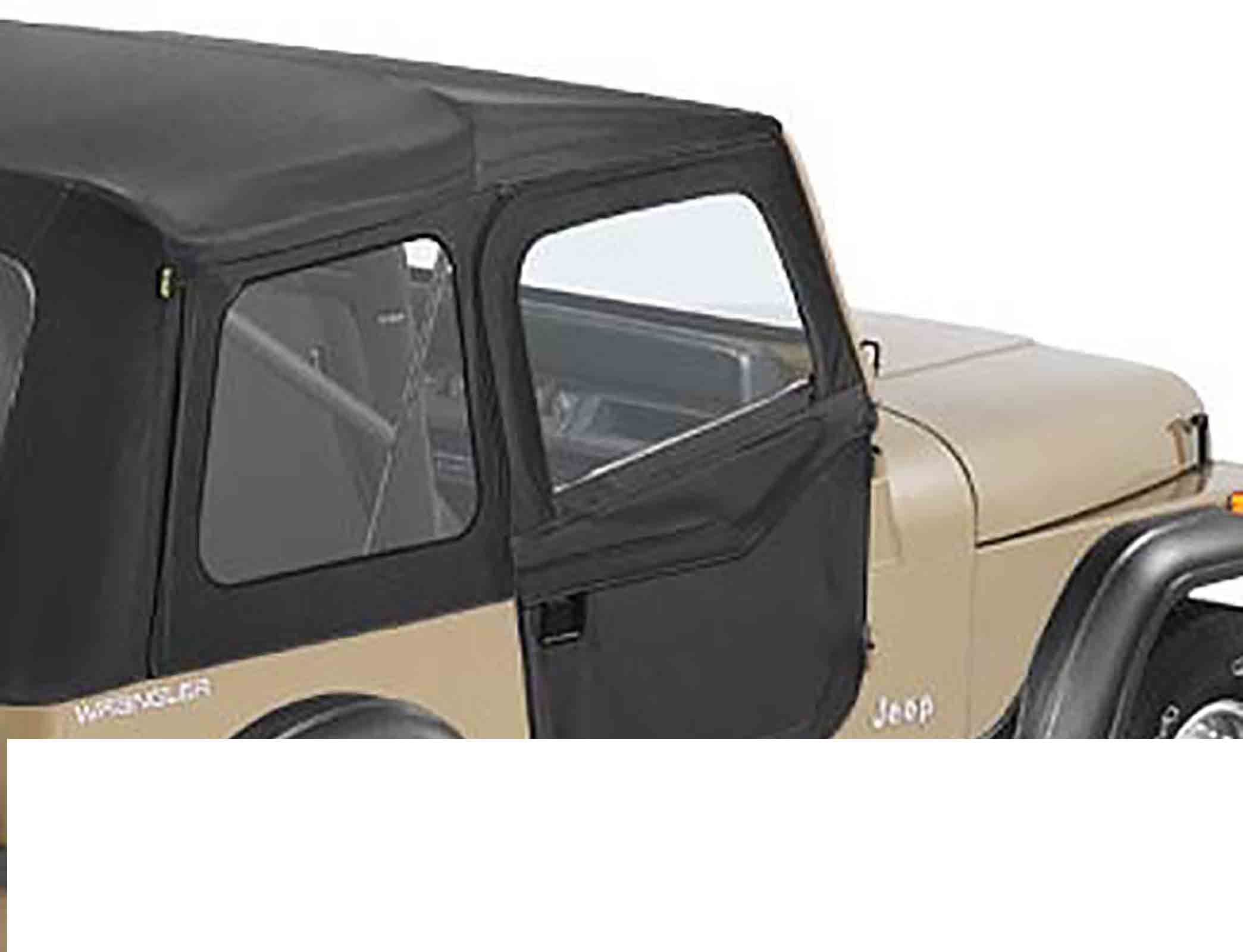 Porte divisibili jeep cj7 80 86 wrangler yj 87 95 black crush ricambi jeep