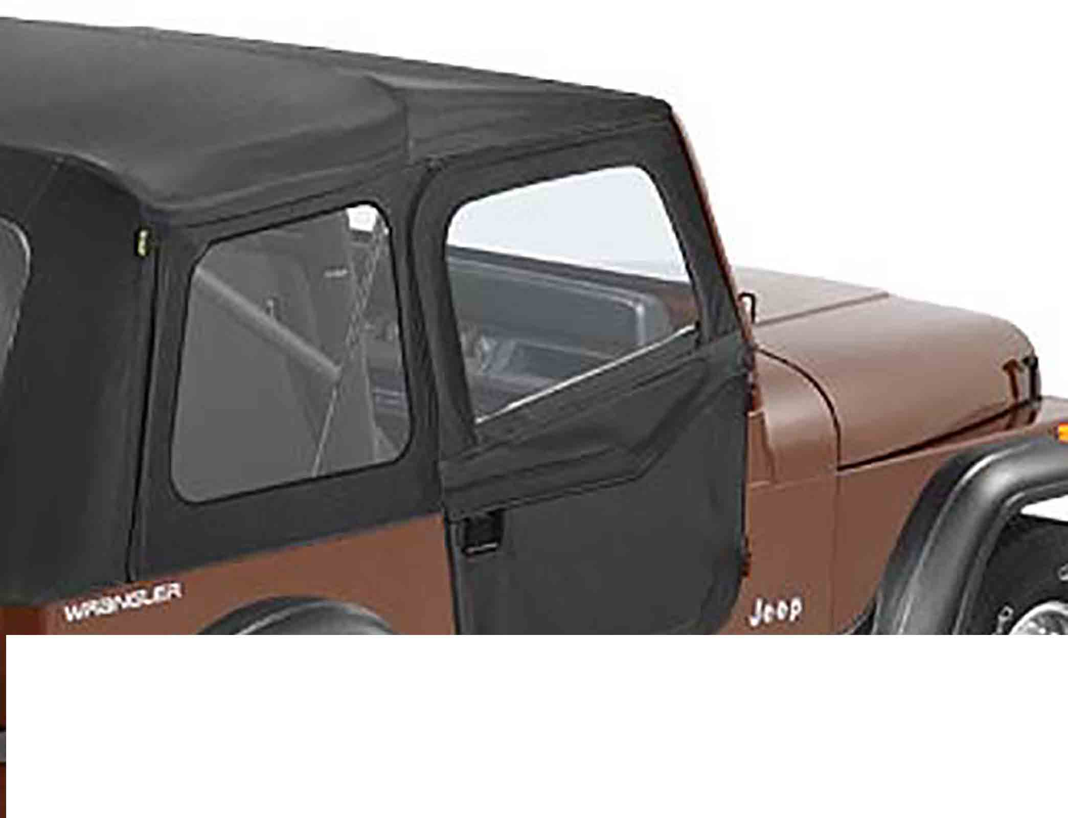 Porte divisibili jeep cj7 81 86 wrangler yj 87 95 colori: black denim ricambi jeep