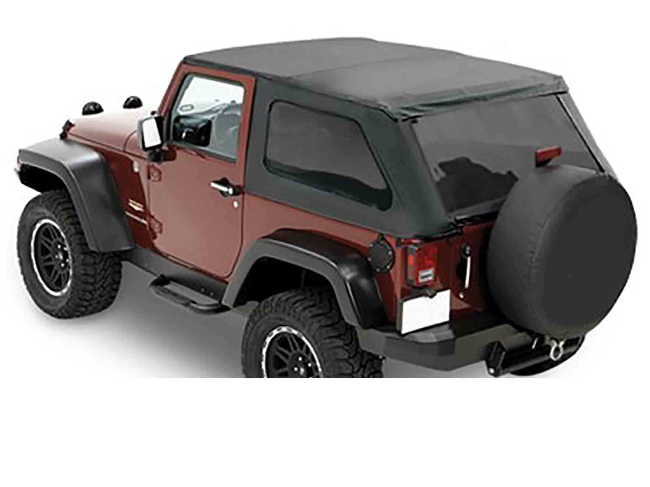 Softtop soft top capottina ricambio trektop nx wrangler jk 07 17 black diamond 2 porte ricambi jeep