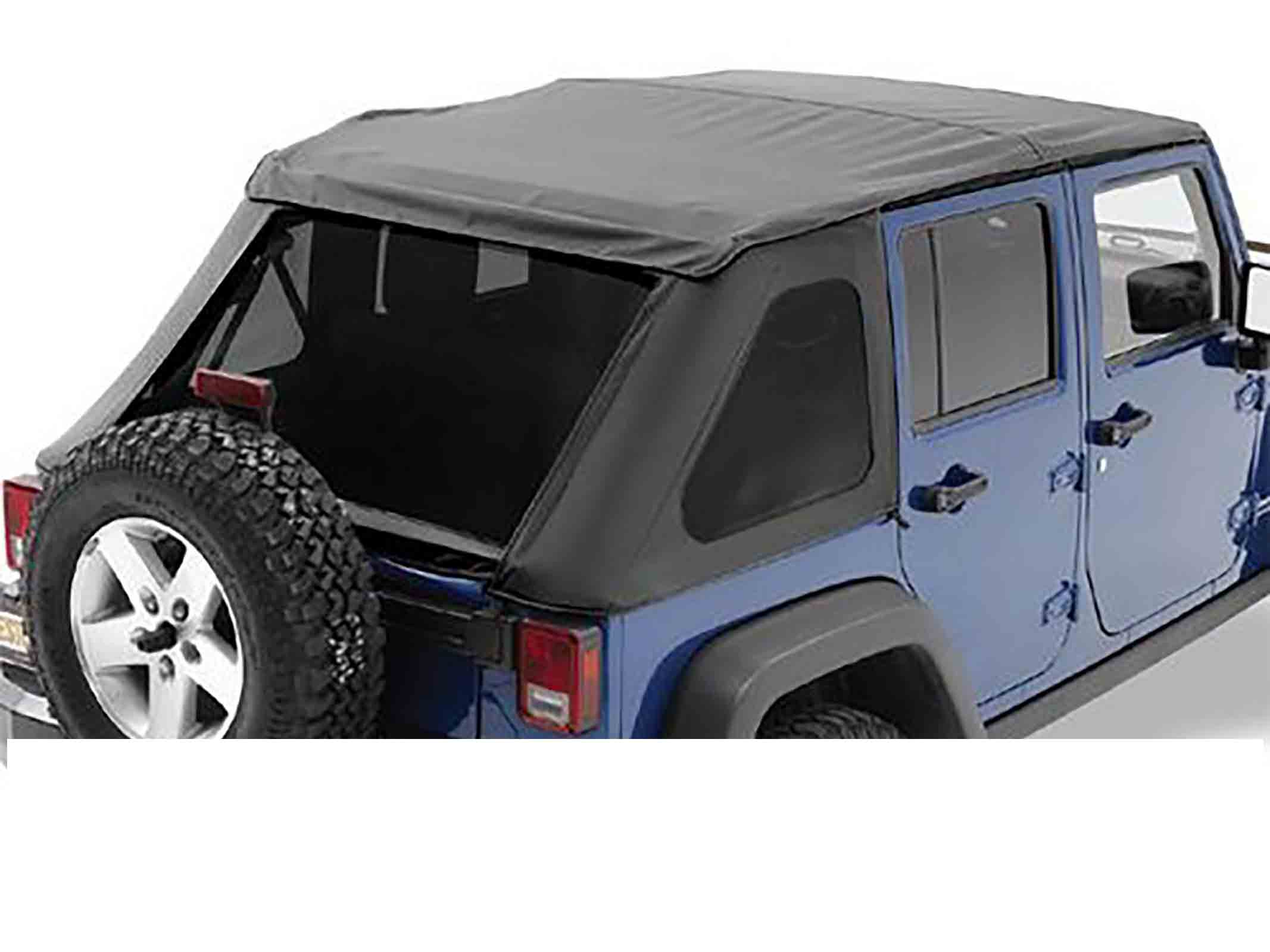 Softtop soft top capottina ricambio trektop nx wrangler jk unlimited 07 16 black diamond 4 porte rica
