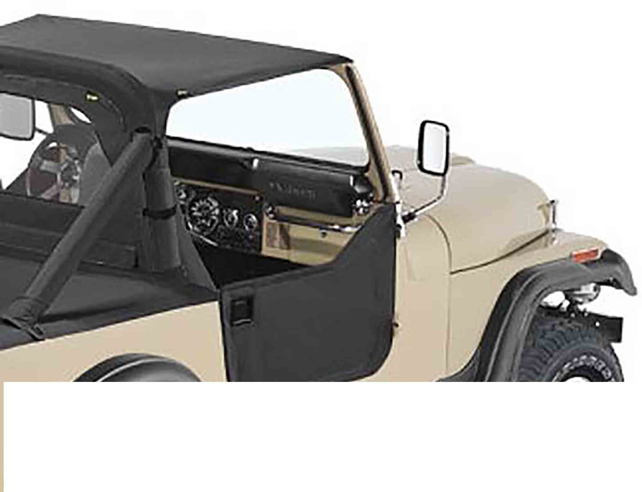 Mezzeporte jeep cj7 81 86 wrangler yj 87 95 colori: black crush ricambi jeep