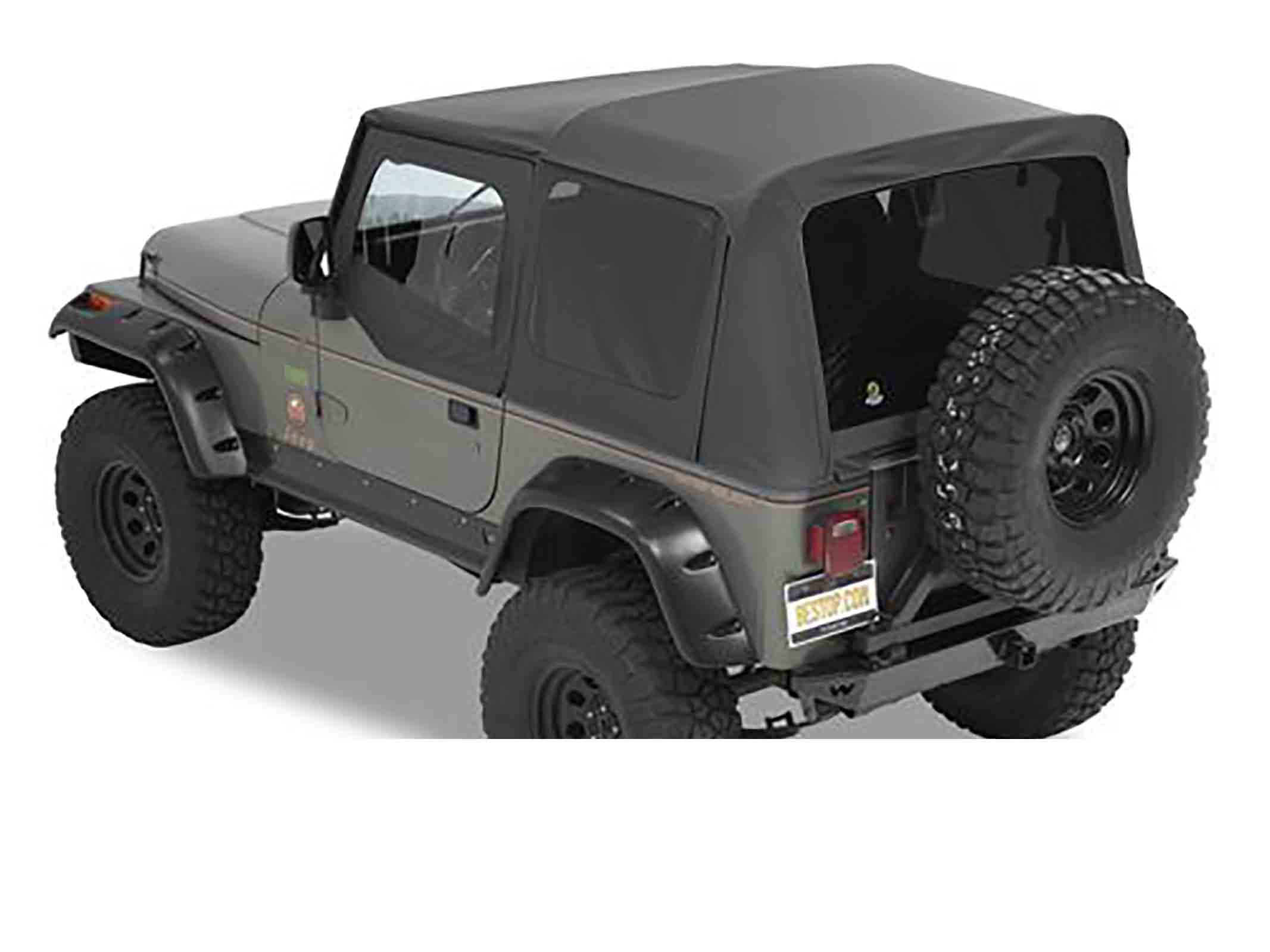 Supertop nx wrangler yj 87 95 black denim ricambi jeep