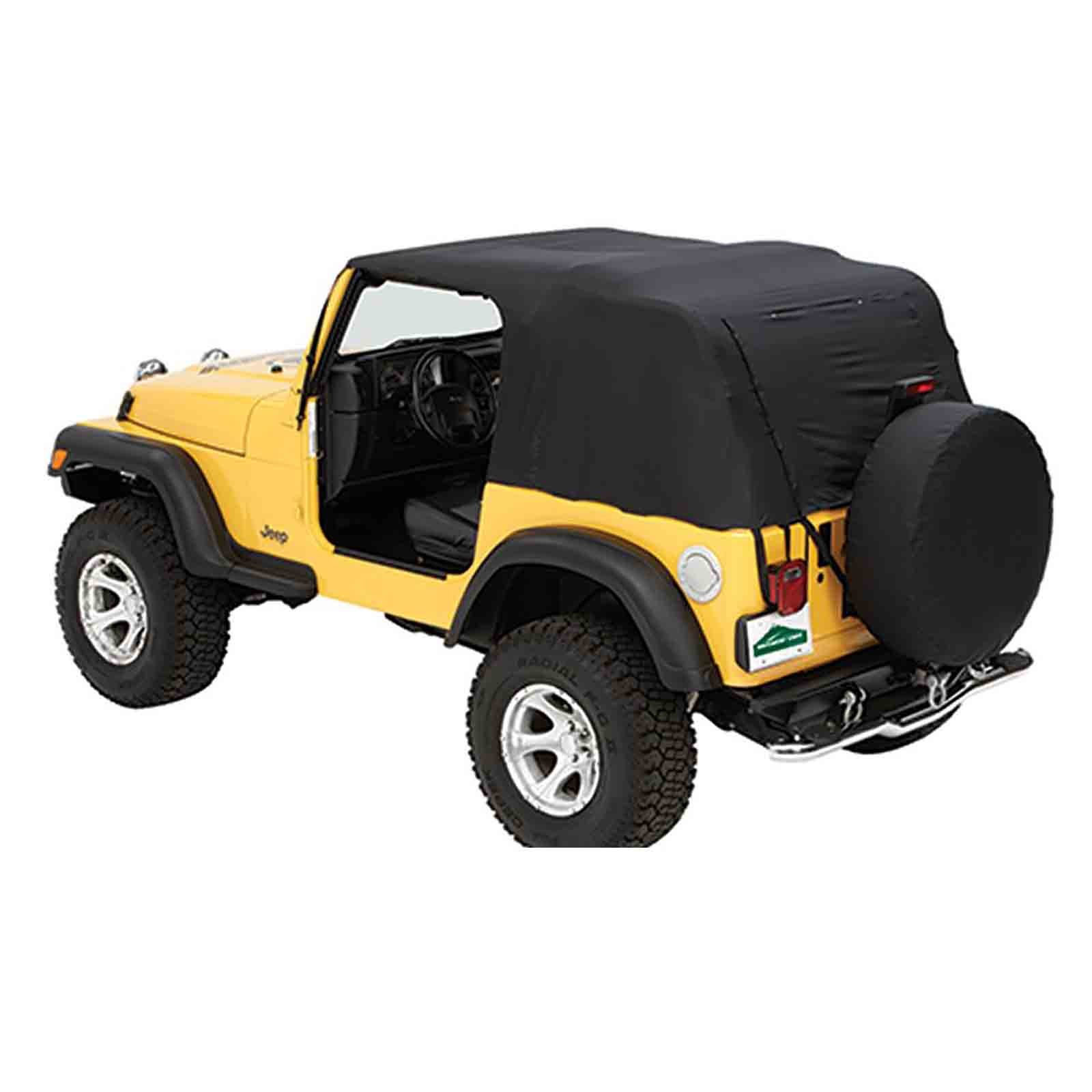 Capottina soft top di emergenza jeep cj 76 86 wrangler yj 87 91  ricambi jeep