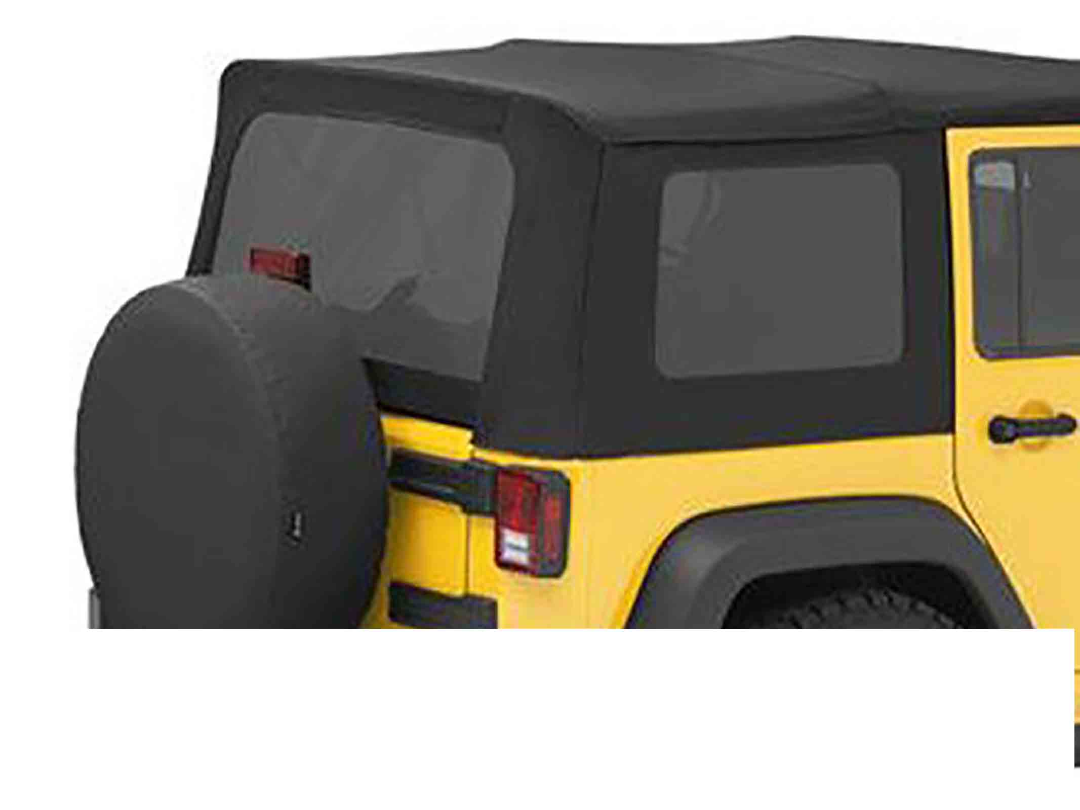 Vetri scuri wrangler jk unlimited 11 18 4 porte adatto per softtop soft top capottina originale ricam