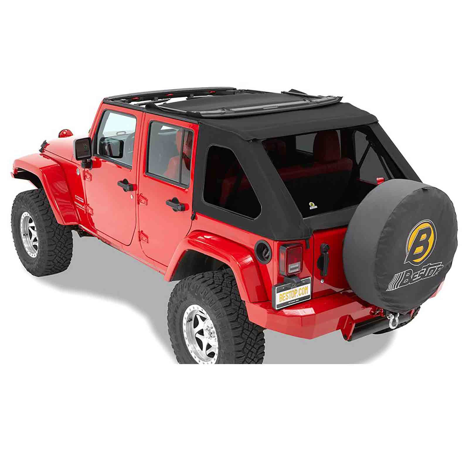 Softtop soft top capottina ricambio trektop nx wrangler jk unlimited 07 16 black twill 4 porte ricamb