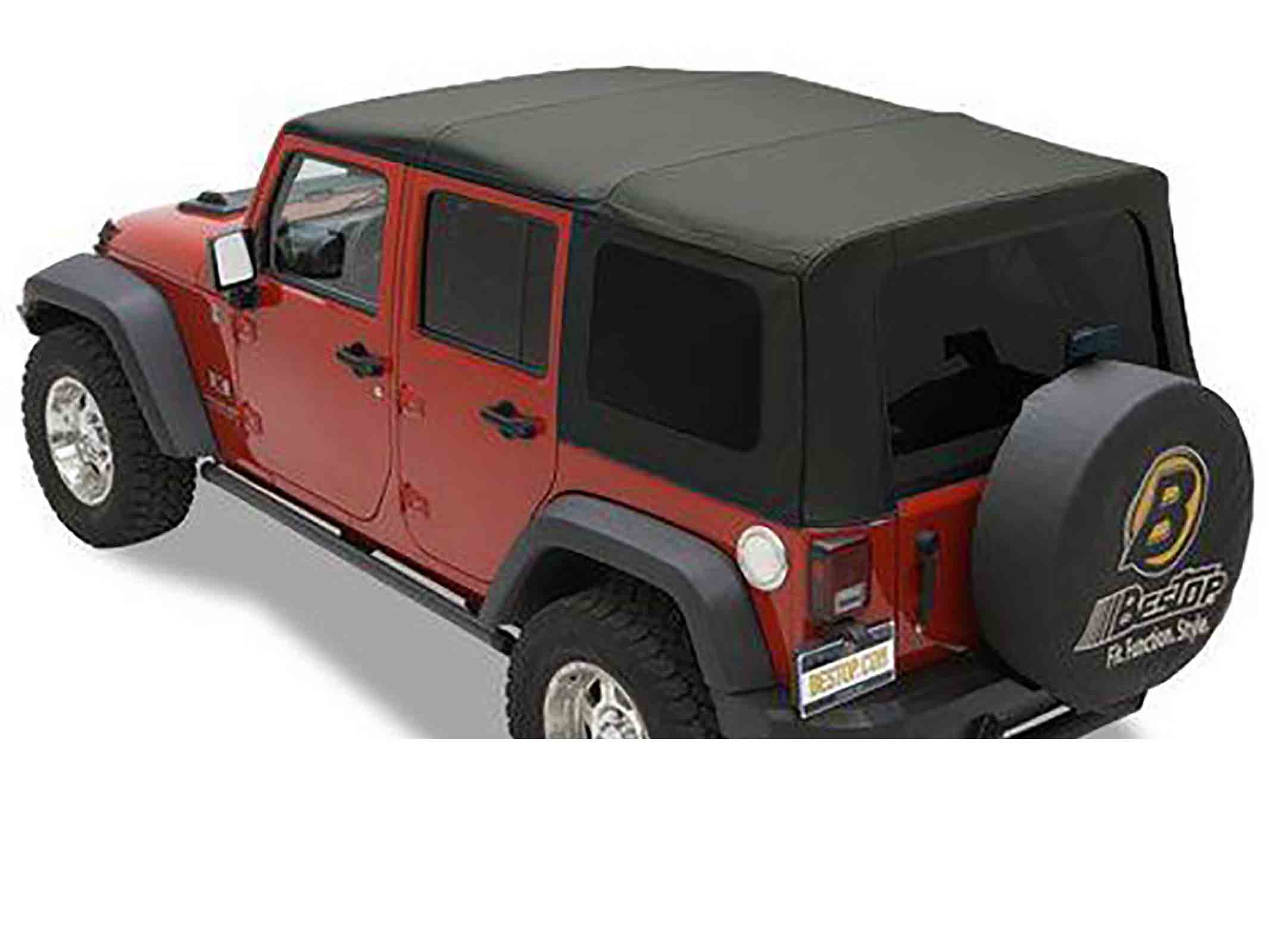 Sailcloth rat wrangler jk unlimited 10 softtop soft top capottina ricambio come originale con vetri s