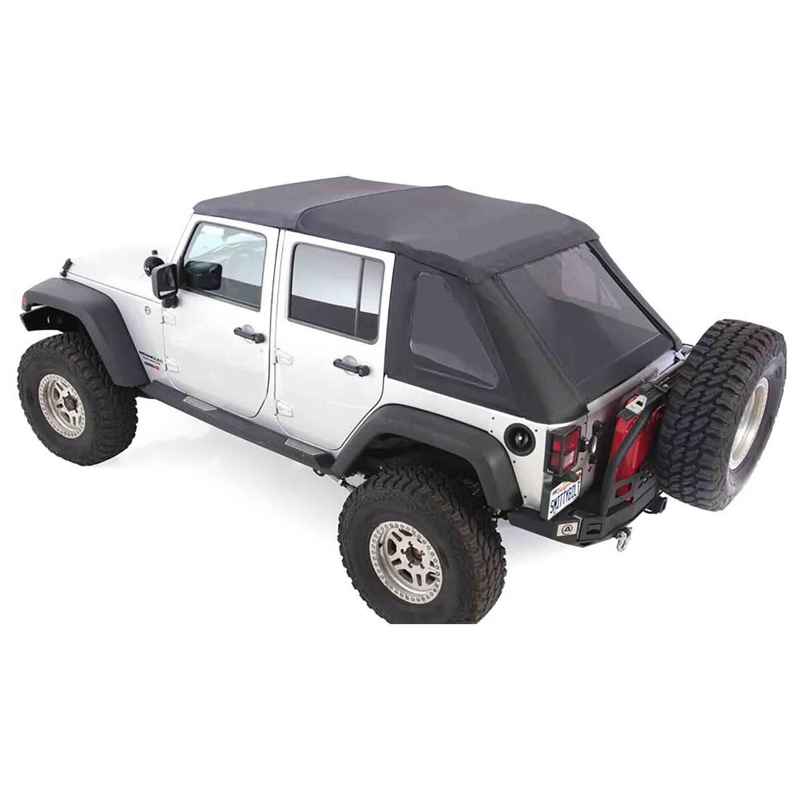 Bowless softtop soft top capottina wrangler jk unlimited 07 17 con vetri scuri ricambi jeep