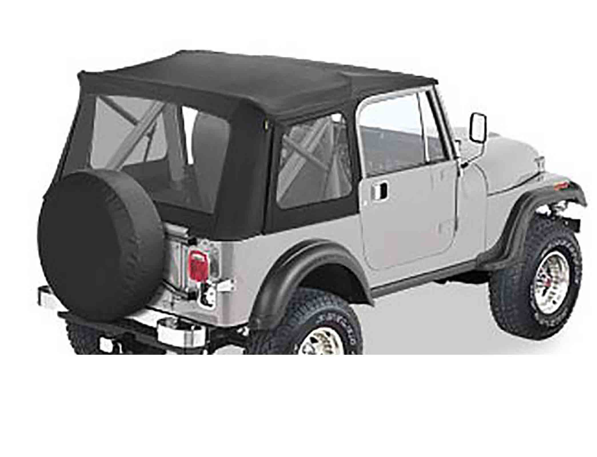 Supertop jeep cj7 76 86 wrangler yj 87 95 softtop soft top capottina senza porte softtop soft top cap