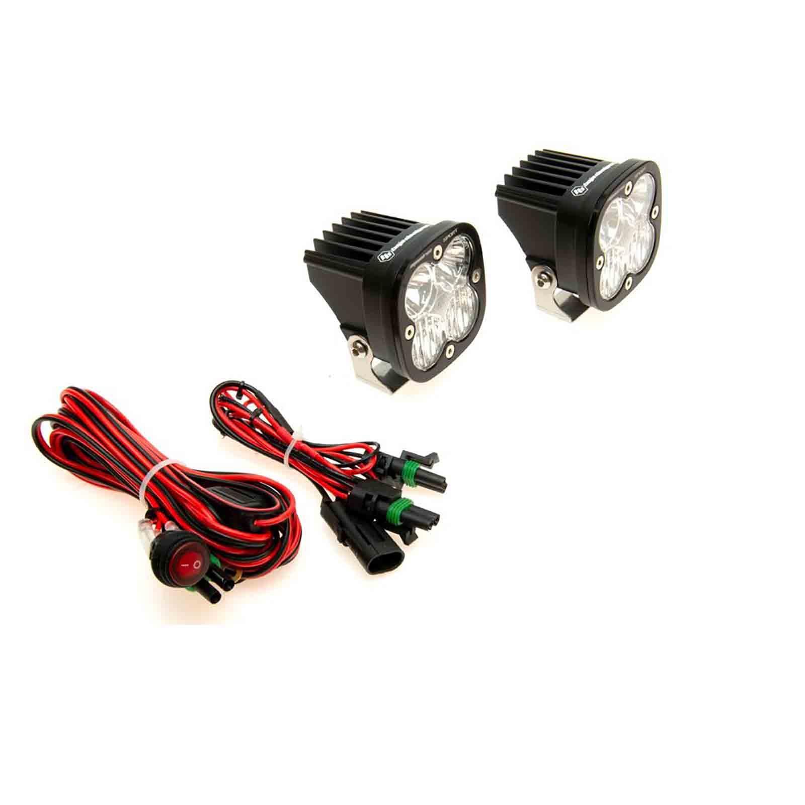 Baja designs fai luci a led squadron sport led  pair with wiring harness ricambi jeep