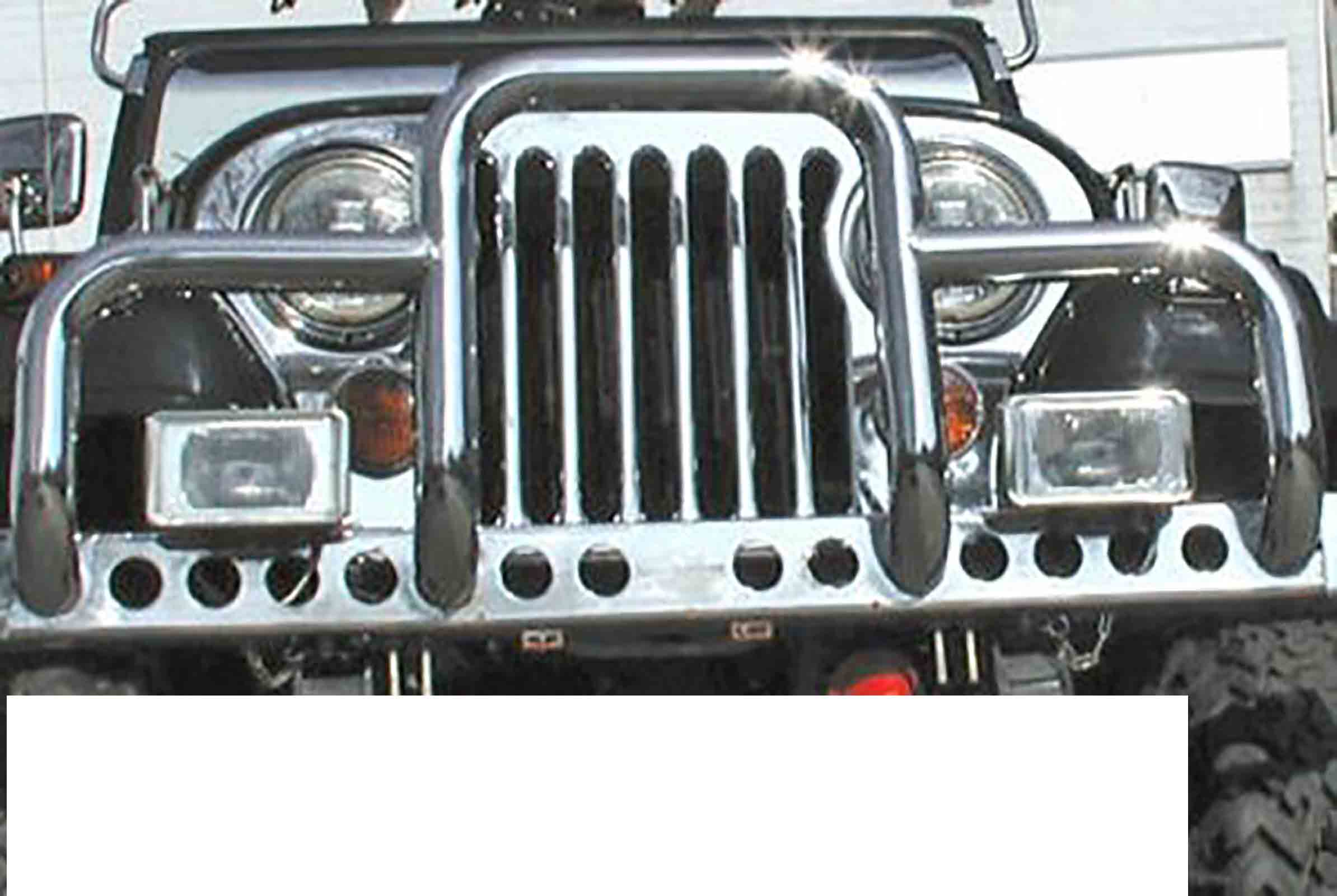 Bullbar new yorker jeep cj 76 86 accaio inossidabile ricambi jeep